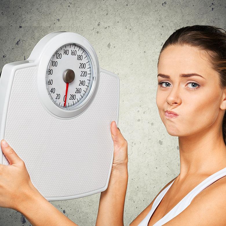 No estamos contentos con nuestro peso, pero fracasamos al ponernos a dieta