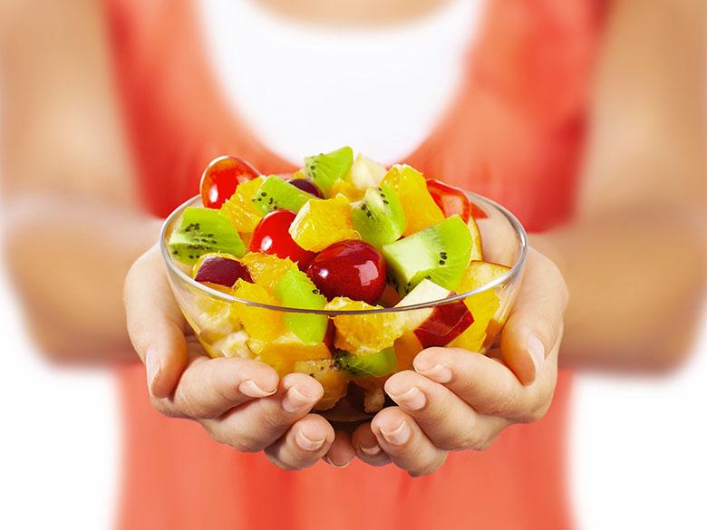 fruta antes despues de comer